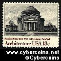 Scott 1928 mint 18c -  American Architecture - NY Univ. Library