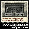 Scott 1931 mint 18c -  American Architecture - National Farmers Bank