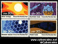Scott 2006-9 mint 20c -  Knoxville World's Fair, 4 varieties, attached