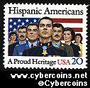 Scott 2103 mint sheet 20c (40) - Hispanic Americans