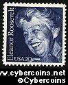 Scott 2105 mint 20c - Eleanor Roosevelt