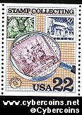 Scott 2200 mint 22c - Stamp Collecting - No. 836 under Magnifier