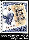 Scott 2201 mint 22c - Stamp Collecting - President Sheet