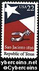 Scott 2204 mint 22c - Texas Republic