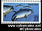 Scott 2208 mint 22c - Fish - Bluefin Tuna