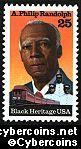 Scott 2402 mint 25c -A.Philip Randolph