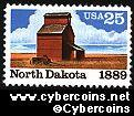 Scott 2403 mint 25c -  North Dakota Statehood