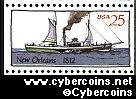 "Scott 2407 mint 25c -  Steamboat - ""New Orleans, 1812"""