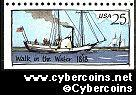 "Scott 2409 mint 25c -  Steamboat - ""Walk in the Water, 1818"""