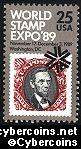 Scott 2410 mint 25c -  World Stamp Expo '89