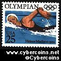 Scott 2500 mint 25c - Olympians - Helene Madison