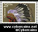 Scott 2502 mint 25c - Indian Headress - Cheyenne