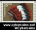 Scott 2503 mint 25c - Indian Headress - Comanche