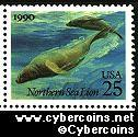 Scott 2509 mint 25c - Sea Creature - Northern Sea Lions