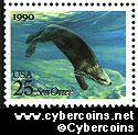 Scott 2510 mint 25c - Sea Creature - Sea Otter