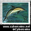 Scott 2511 mint 25c - Sea Creature - Common Dolphin