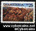 Scott 2512 mint 25c - Americas Issue (Grand Canyon)