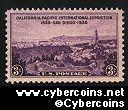 Scott 773 mint  3c - CA Pacific Inernational Exposition. 1535 - 1935 San Diego