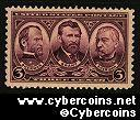 Scott 787 mint  3c - Sherman, Grant and Sheridan