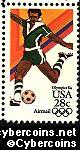 Scott C104 mint 28c - Summer Olympics - Soccer