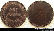 "England, undated, copper. Liverpool ""Pound"""