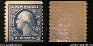US #447 5 Cent Washington - Mint - light hinge