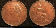 Great Britain, 1878, 1 farthing, AU, KM753