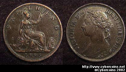 Great Britain, 1895,   1 farthing, VF/XF, KM753