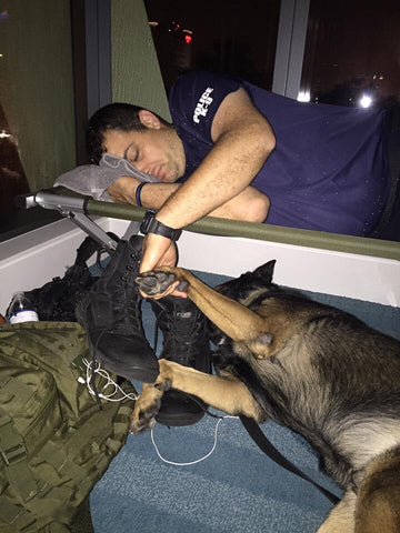 Fort Lauderdale PD K9 and Handler after Irma