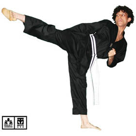 BEST RIBBED FABRIC BLACK TAEKWONDO UNIFORM