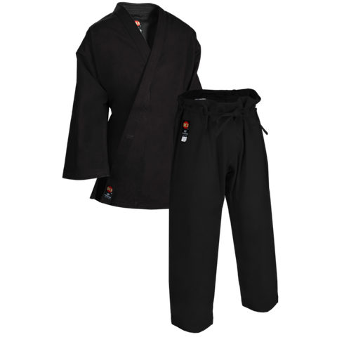 KI HEAVY WEIGHT GI - TRADITIONAL BLACK KARATE UNIFORM
