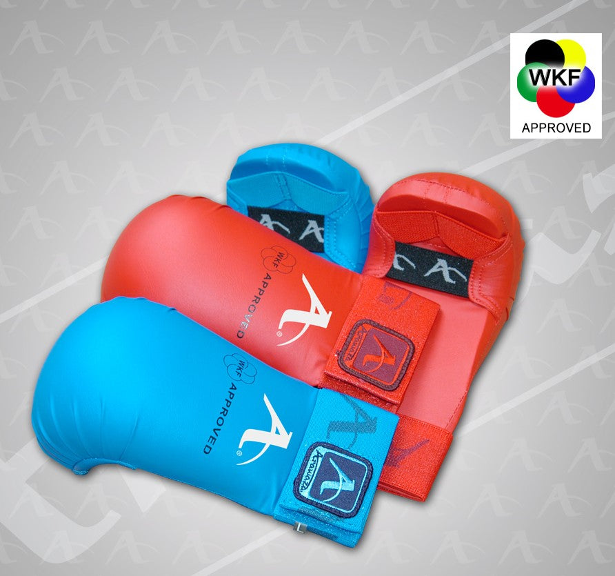 ARAWAZA WKF APPROVED FIST PADS - RED/BLUE