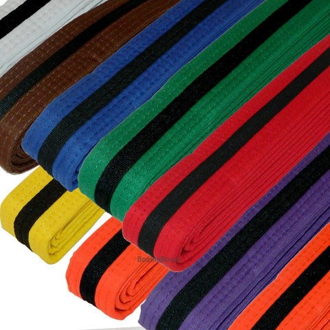 COLOR BELTS WITH BLACK STRIPE