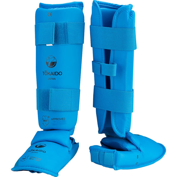 TOKAIDO WKF APPROVED SHIN AND INSTEP PROTECTOR - RED/BLUE