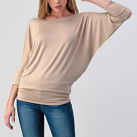 Natural Life Top-Khaki