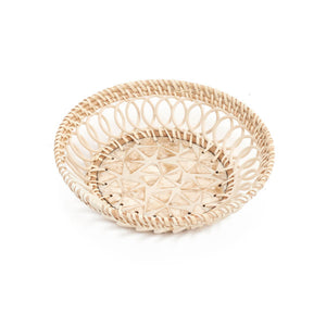 "ADV- Rattan Tray-Natural(10"" diameter)"