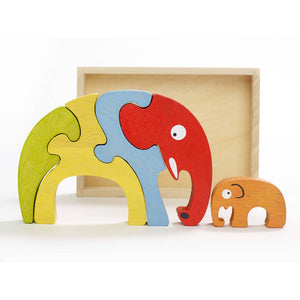 Begin Again- Wood Elephant Puzzle