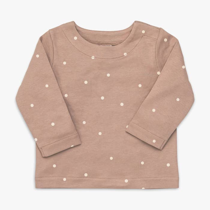 Colored Organics Dot Pullover with Snaps