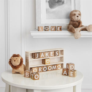 Mud Pie Wood Message Block Frame Set