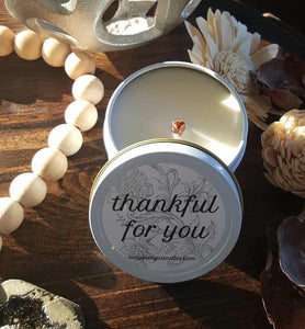 "Live Young ""Thankful For You"" Candle in Tin"