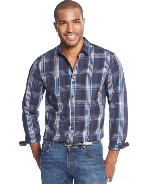 Alfani Big & Tall Men's Jasper Plaid Shirt