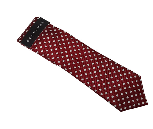 Sean John Men's Basket Weave Dot Tie