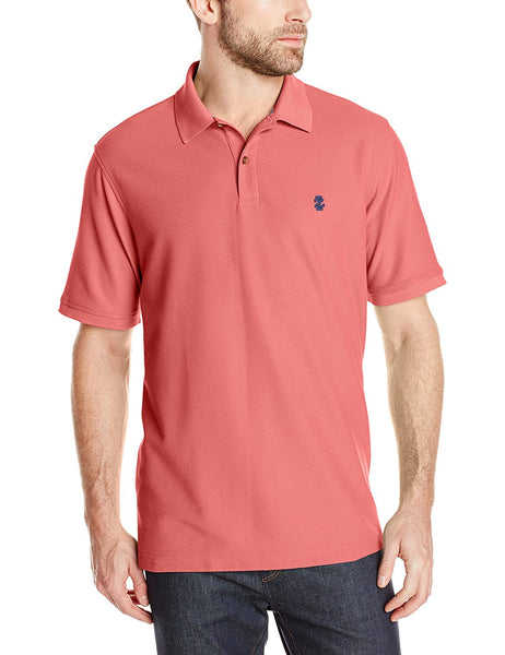 IZOD Men's Advantage Performance Solid Polo, Rapture Rose, 2X-Large