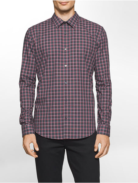 Calvin Klein Men's Check Long-Sleeve Shirt