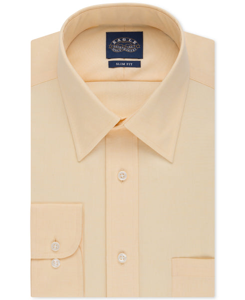 Eagle Men's Slim-Fit Non-Iron Solid Dress Shirt
