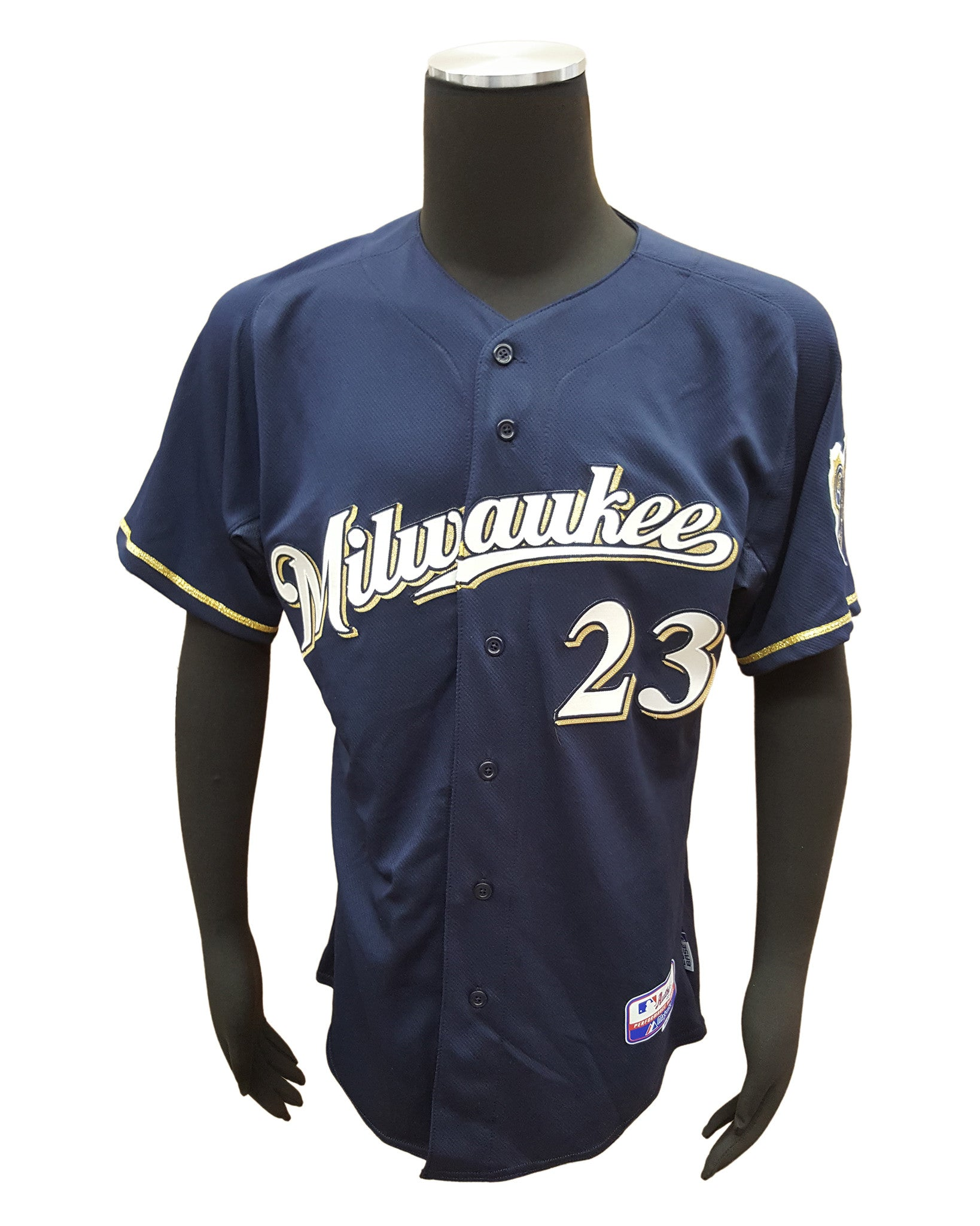 quality design 3884c d80d3 Majestic Milwaukee Brewers #23 Rickie Weeks Blue Cool Base Jersey