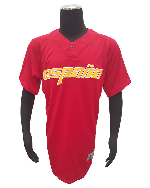 Majestic Spain Espana 2013 WBC Authentic Practice One Button Jersey