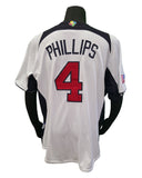 Majestic 2013 World Baseball Classic USA Phillips #4 Jersey