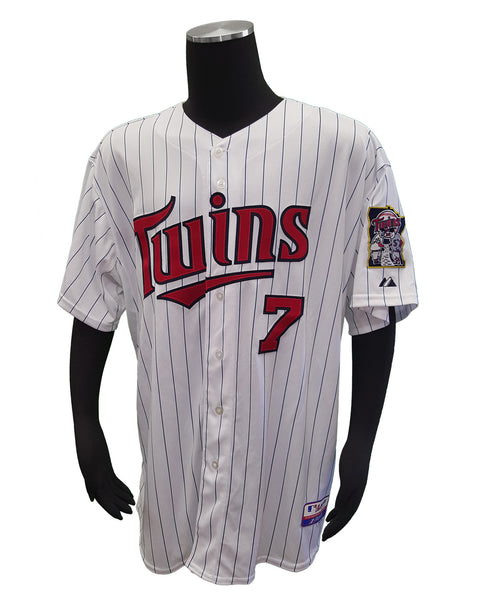 Men's Minnesota Twins Joe Mauer #7 On-Field Cool Base Alternate Jersey