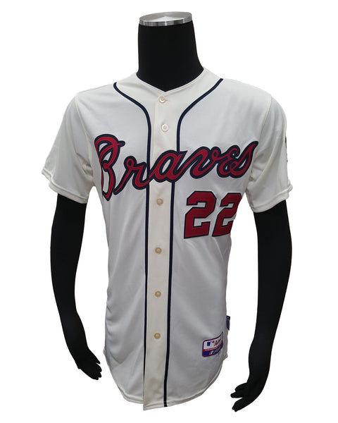 Majestic Atlanta Braves #22 Jason Heyward Cream Alternate Cool Base Jersey